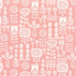 Lil' Red Pink Grandma's Wallpaper Yardage