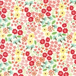 Farm Fun Milk Wild Flowers Yardage