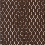 Farm Fun Dark Chocolate Chicken Wire Yardage
