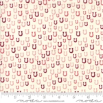 Howdy Pink on Porcelain Horseshoes Yardage