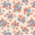 Sweet Marion Peach on Cloud Dotty Garden Yardage