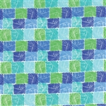 Horizon Blue on Green Field Yardage