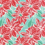 Jingle Ice Poinsettia Yardage