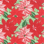 Jingle Crimson Poinsettia Yardage