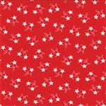 Winter Wonderland Redwork Star Vine Yardage