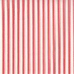 Winter Wonderland Snow White Candy Cane Stripe Yardage