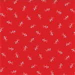 Winter Wonderland Redwork Make A Wish Yardage