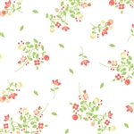 Sundrops White Blossoms Yardage