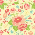Lulu Lane Canary Flower Garden Yardage