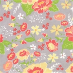 Lulu Lane Grey Flower Garden Yardage