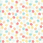Lulu Lane Multi Pansies Yardage