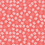Lulu Lane Coral Pansies Yardage