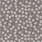 Lulu Lane Slate Pansies Yardage