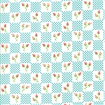 Lulu Lane Turquoise Flower Patch Yardage