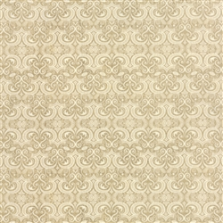 Black Tie Affair Cream on Tan Vignette Yardage