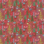 Juniper Berry Poinsettia Red Reindeer Games Yardage