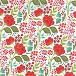 Juniper Berry Winter Vanilla Holly Jolly Yardage