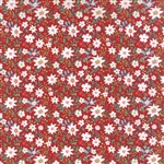 Juniper Berry Poinsettia Red Merrily Yardage