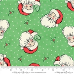 Swell Christmas Green Santa Yardage 31120-14