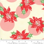 Swell Christmas Cream Poinsettia Polka Dot 31121-11