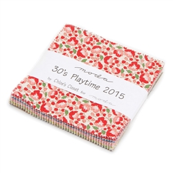 "30's Playtime 2015 5"" Charm Squares"
