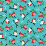 Jingle Birds Bluebird Bird Friends Yardage