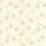 Jingle Birds Cream Snowflake Yardage