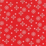 Jingle Birds Cardinal Snowflake Yardage