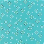 Jingle Birds Aqua Snowflake Yardage