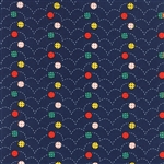 Here Boy Childrens Bouncy Balls Navy Yardage