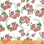 Hazel Red Flower Swirl Yardage