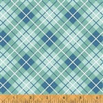 Hazel Blue Plaid Yardage