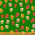 Sleeping Porch Green Pansies Cotton Lawn Yardage