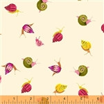 Sleeping Porch Cream Snails Cotton Lawn Yardage
