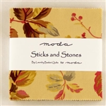 "Sticks and Stones Print 5"" Charm Squares"