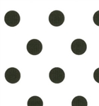 Dottie White Jet Back Dots Yardage