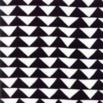 Thicket Black on White Triangles Yardage
