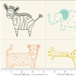 Savannah Multi Little Critter Quilt Panel SKU# 48220-11 Savannah by Gingiber for Moda Fabrics