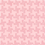 Twirl Pink Houndstooth
