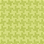 Twirl Green Houndstooth