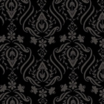 Twirl Black Damask