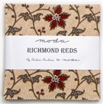 "Richmond Reds 5"" Charm Squares"