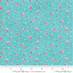 First Romance Blue Eyes Corsage Yardage  SKU# 8401-16 First Romance by Kristyne Czepuryk for Moda Fabrics