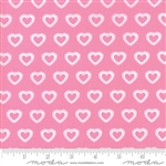 First Romance Sweet Pea Paper Hearts Yardage  SKU# 8404-13 First Romance by Kristyne Czepuryk for Moda Fabrics