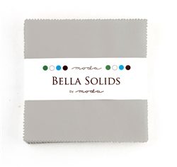 "Bella Solids Silver 5"" Charm Squares"