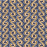 Athena Draped Volute Ocean Yardage
