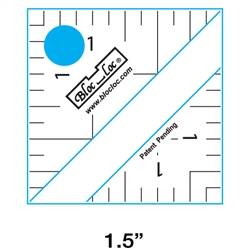"1.5"" Bloc Loc Half Square Triangle Square Up Ruler"