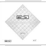 "4.5"" Bloc Loc Half Square Triangle Square Up Ruler"
