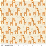 Giraffe Crossing Giraffe Orange