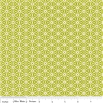 Sidewalks Geometric Green Yardage